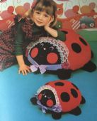 Original  Chart Sewing Pattern A Sit On Ride On Ladybird Ladybug Cushions or Pillows in 2 Sizes